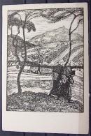 """Alte Karte """"FRÜHLING IN THÜRINGEN""""  Von Otto Modersohn - Malerei & Gemälde"""