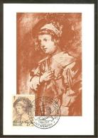 BELGIQUE Carte Maximum - Franz Rubens à 4 Ans - Maximumkaarten