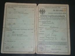DEUTSCHE ARBEITERCENTRALE BERLIN- ARBEITER LEGITIMATIONSKARTE - Anna JAKIBOWSKA  - Essen 25/6/1929 - Documents Historiques