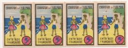 4 Timbrescroisade De L'air Pur. Entr'aide Française. 5 F. Vers 1941. Avec Gomme  Sans Charnière - Commemorative Labels