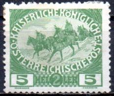 AUSTRIA 1915 War Charity Funds - 5h.+2h Cavalry MH