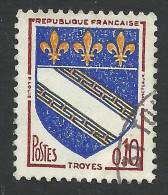France, 10 C. 1963, Sc # 1041, Mi # 1420, Used. - 1941-66 Wappen