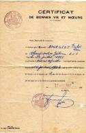 Digny (28-Eure-et-Loir) Certificat De Bonnes Vie Et Moeurs 1952 Bourgeot Victor Léon Né à Champrond-en-Gâtine - Diplômes & Bulletins Scolaires