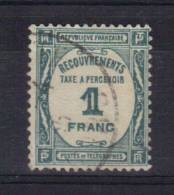 France Timbres Taxe N°60 1f Bleu Vert  Oblitéré - Postage Due