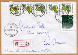 Enveloppe Cover Brief Aangetekend Registered Recommandé Mouscron Moeskroen - Belgique