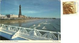 REGNO UNITO  LANCASHIRE  BLACKPOOL  The Tower From North Pier  Nice Stamp - Blackpool