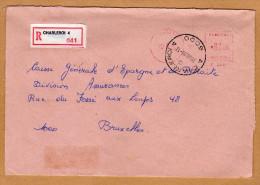 Enveloppe Cover Brief Aangetekend Registered Recommandé Charleroi 4 - Belgien