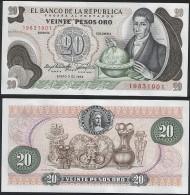 Colombia P 409 D - 20 Pesos Oro 1.1.1983 - UNC - Colombie