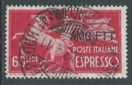 1950 TRIESTE A USATO ESPRESSO DEMOCRATICA 1 RIGHE 60 LIRE - L23 - 7. Triest