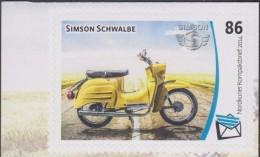 Allemagne 09/11/.2014. Poste Locale Nordkurier. Moto D´Allemagne De L´Est. Simson Schwalbe - Motorbikes