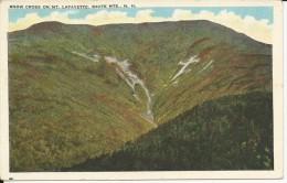 Carte Postale  Etats Unis  : Snow Cross On Mt Lafayette- White Mountains  N.H - White Mountains