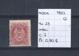 Noorwegen 1883 - Yv. 39 Gest./obl./used - Norvège