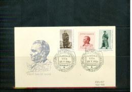 Yugoslawien / Yugoslavia / Yougoslavie 1952 Michel 693-695 FDC - Covers & Documents