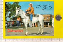 BOBBEJAAN SCHOEPEN stichter FAMILY PARK BOBBEJAANLAND ca13x18cm LICHTAART = KASTERLEE pretpark circus meli cirque   R402