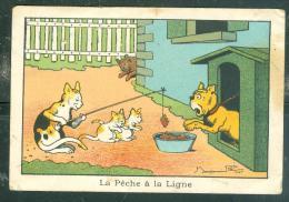 La Pêche à La Ligne , Illustration Signée Benjamin Rabier - La Blédine Jacquemaire à Villefranche ... MALA6507 - Trade Cards