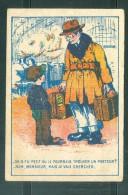 Petit Image Pub Illustrée  /:  Noouveauté Bonneterie-confection R. Sarazin Montrésor  ... MALA6510 - Trade Cards