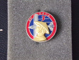 "Insignes Militaire ""ALAT - INDOCHINE // 3/23ème - G.A.O.A."" ""Military Badges """" - RARE - Armée De Terre"