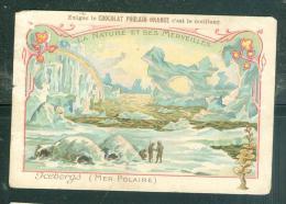 Image - La Nature Et Ses Merveilles  Iceberg Mer Polaire    -cacao Poulain  ( Image Un Peu Fatiguée  - Mala6525 - Poulain