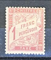 Chiffre Taxe, 1893-1935, Y&T N. 39, 1 Franco Rosa Su Paglia, MH Splendido, Firmato G. Biondi - Taxes