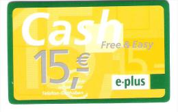 Germany - E-Plus - Free & Easy - Provider Talkline - [2] Mobile Phones, Refills And Prepaid Cards