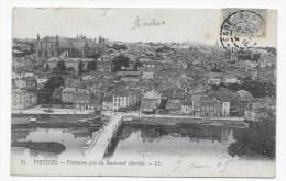 (RECTO / VERSO) POITIERS EN 1905 - N° 83 - PANORAMA PRIS DU BOULEVARD ABOVILLE - DECHIRURE EN HAUT - BEAU CACHET - Poitiers
