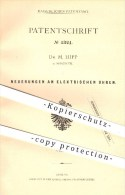 Original Patent - Dr. M. Hipp In Neuchatel , 1878 , Elektrische Uhr , Uhren , Uhrwerk , Uhrmacher , Zeit !! - Documents Historiques