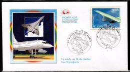 """FRANCE 2002 : Enveloppe 1er Jour """" LE CONCORDE """" N° YT 3471. Parfait état. FDC"""