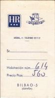 EHT1] Advertencia De Hotel Almirante Bilbao - Documentos Antiguos