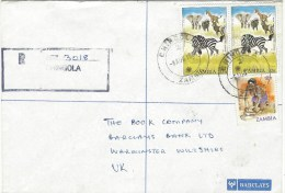 Zambia 1981 Chingola Year Of The Child 32n Barclays Bank Registered Cover - Zambia (1965-...)