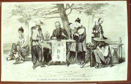 GRAVURE- 770-ASIE-CHINE-HONG KONG-DISEUR DE BONNE AVENTURE-1870 - Gravados