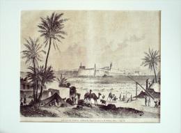 GRAVURE- 912-AFRIQUE-SYRIE-TRIPOLI-VUE GENERALE-1871 - Incisioni