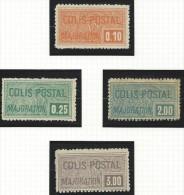 """FR Colis Postaux YT 77 à 80 """" Majoration 4 Val """" 1926 Voir Détail - Paketmarken"""