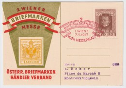 Österreich, 1947, Seltene Privat GA  , #2583 - 1945-60 Briefe U. Dokumente