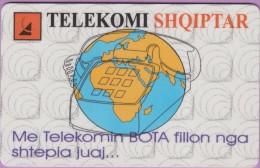 Télécarte Albanie  °°  Telekomi  100  Impulse  :-.   Tirana  V06/97 - Albanie