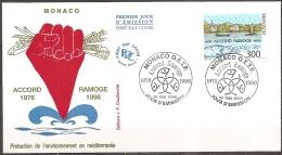 Monaco - Enveloppe 1er Jour Datée Du 14/05/1996,timbre 2038  (bon état) - FDC