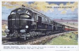 Unknown Artist  -  British Railways : Scottish Region  Diesel-electric Locomotives Nos.10000 And 10001   -   1714 - Trains
