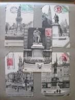 ANVERS ANTWERPEN (Belgique) LOT 5 Cartes Statue Loos, Rubens, Monument De L'Escaut, Furie Française, Henri Conscience - Célébrités