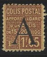"""FR Colis Postaux YT 83 """" Apport à La Gare 1F65 Brun """" 1928 Neuf* - Paketmarken"""