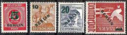 Grün-Aufdrucke 1949: Michel-Nr.64-67 * Erstfalz MLH (Mi € 250.00 Für **) - Ungebraucht