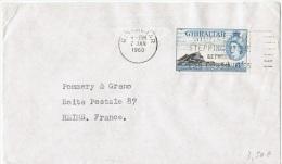 L-GB 63 - GIBRALTAR N° 138 Sur Lettre Pour Reims - Gibraltar