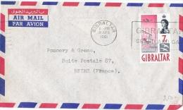 L-GB 65 - GIBRALTAR N° 152 Sur Lettre Par Avion Pour Reims - Gibilterra