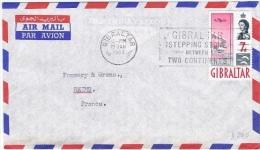 L-GB 67 - GIBRALTAR N° 152 Sur Lettre Par Avion Pour Reims - Gibilterra