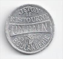 JETON DE RISTOURNE - UN PAIN - BOULANGERIE - LA MAISON DU PEUPLE - BRUXELLES - Monetary / Of Necessity