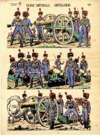 GARDE IMPERIALE ARTILLERIE   IMAGERIES REUNIES NANCY  PLANCHE 301 - Uniforms