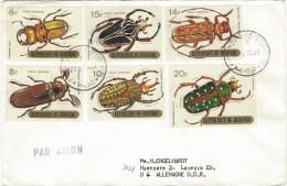 Burundi 1970 Beetles First Day Cancellation FDC Cover - Burundi