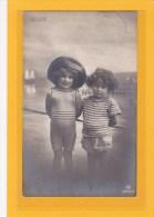 PHOTOGRAHIE- PHOTOS - ENFANTS - BELGIQUE - OSTENDE - VERITABLE PHOTO CARTE D´ENFANTS - Persone Anonimi