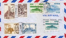 G)1953 PERU, MULTIPLE, MANCO COPAC MONUMENT-PERUVIAN CORMORANTS-RIVER GUNBOAT MARAÑON-NATIONAL AIRPORT LIMA-GARCILLASO D - Peru