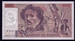 France 100 Francs 1993 XF - 100 F 1978-1995 ''Delacroix''