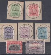 Eupen Und Malmedy Minr.1-7 Briefstücke, Falz - Deutschland