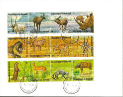 Burundi 07-31-1975 (2) FDC Mi# 1149-1172 - 6 Strips Of 4 - Wild Animals Of Africa - Burundi